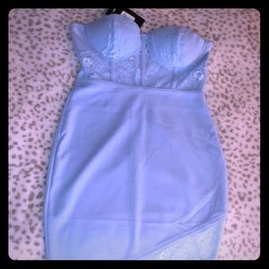 Light blue laced dress